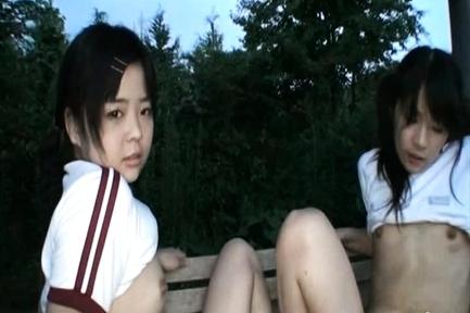 Chiwa Osaki and Anri Nonoka Asian teens enjoying their time together