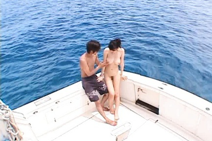 Ai Takeuchi Asian model has sex on the yacht