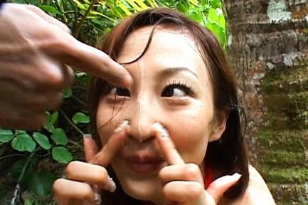 Mako Katase Asian model gets outdoor sex