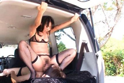 Sho Nishino Asian model has cute outdoor sex