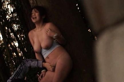 Yuka Nishii Hot Asian babe has outdoor sex
