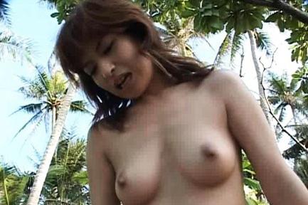 Ann Nanba Japanese babe gets super outdoor sex action
