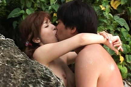 Ann Nanba Asian babe enjoys super outdoor sex action