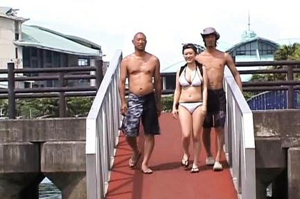 Nana Aoyama Asian model has outdoor sex