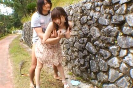 Outside Is Where Teen Rina Rukawa Has Amazing Sex