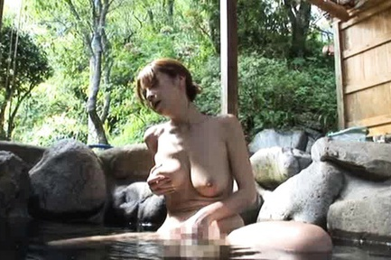 Suimire Matsu Has A Soapy Suck And Fuck Session Outdoors