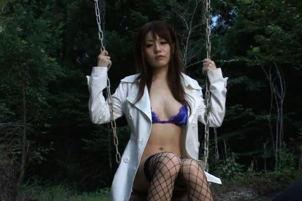 Miki Itoh sweet Japanese model likes outdoor sex
