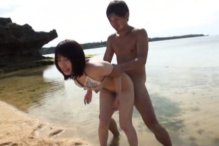 Outdoor session with horny Misuzu Kawana
