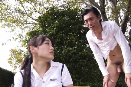 Japanese AV Model naughty teen banged hard in the park