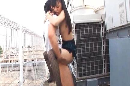 Aino Kishi Hot Asian doll has outdoor sex